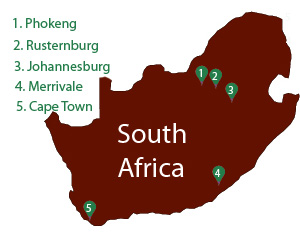 Redemptorist locations in South Africa